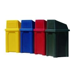 Colorful Square Receptacles